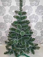 """Новорічна штучна сосна зелена 1.3 метр """"Білі кінчики"""", фото 1"""