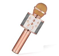 Караоке-микрофон портативный Wster WS-858 Розовый/Золотой