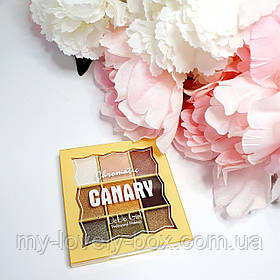 """Палетка теней на 9 оттенков от DoDo """"Canary"""""""