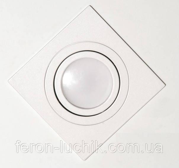 Светильник точечный алюминиевый белый матовый - это стильный, практичныйи долговечный вариант.
