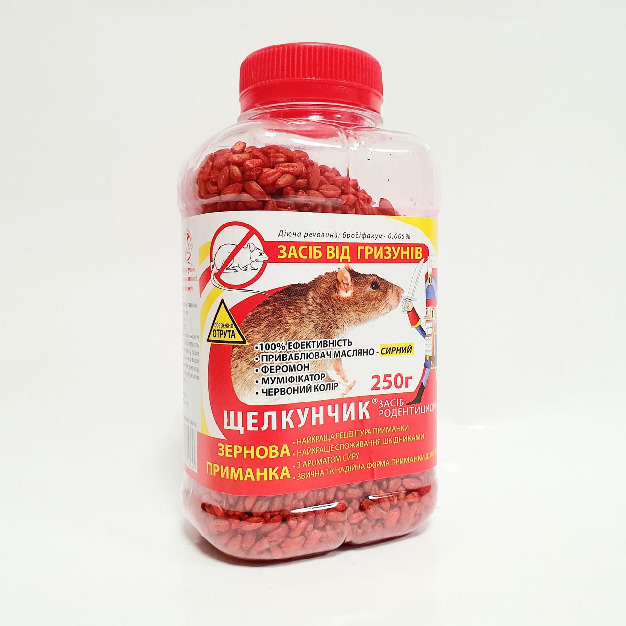 Зерновая приманка от крыс и мышей Щелкунчик 250 г Агромаг 1555