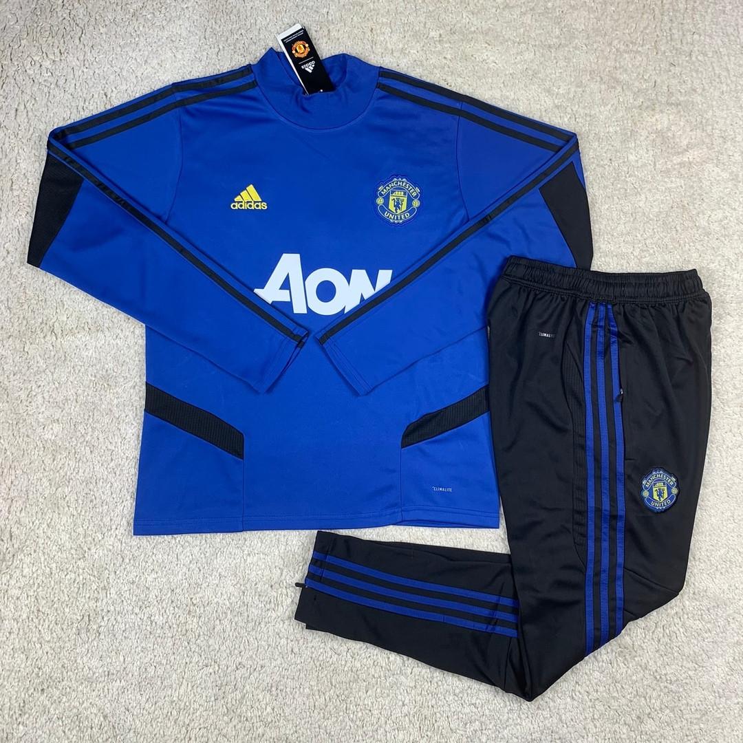 Тренировочный костюм Манчестер Юнайтед синий сезон 2019-2020