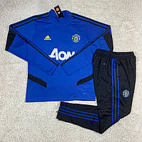 Тренировочный костюм Манчестер Юнайтед синий сезон 2019-2020, фото 1