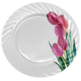 "Тарелка стеклокерамика 8"" (20.5см) ""Тюльпаны"" 6шт/уп, фото 2"