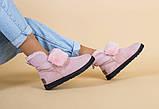 Женские зимние замшевые розовые угги, фото 7