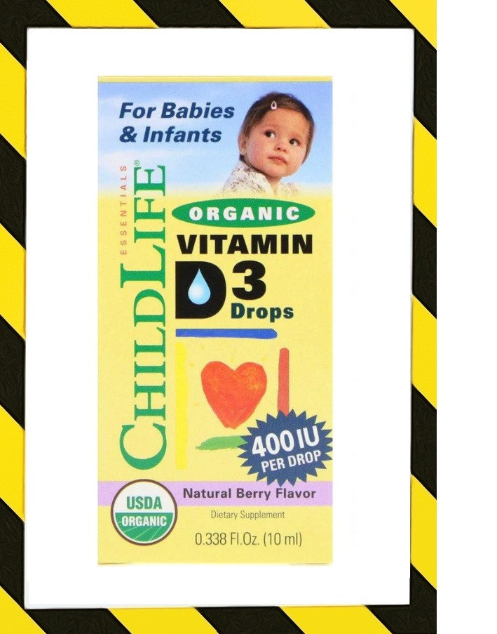 ChildLife, Органический витамин D3 в каплях, натуральный ягодный вкус, 400 МЕ, 10 мл (0,338 жидк. унции)