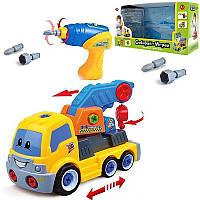 """Машинка - конструктор для маленьких мальчиков. Дрель. На батарейках. """"Кран-эвакуатор"""" Play Smart. арт. 1985"""