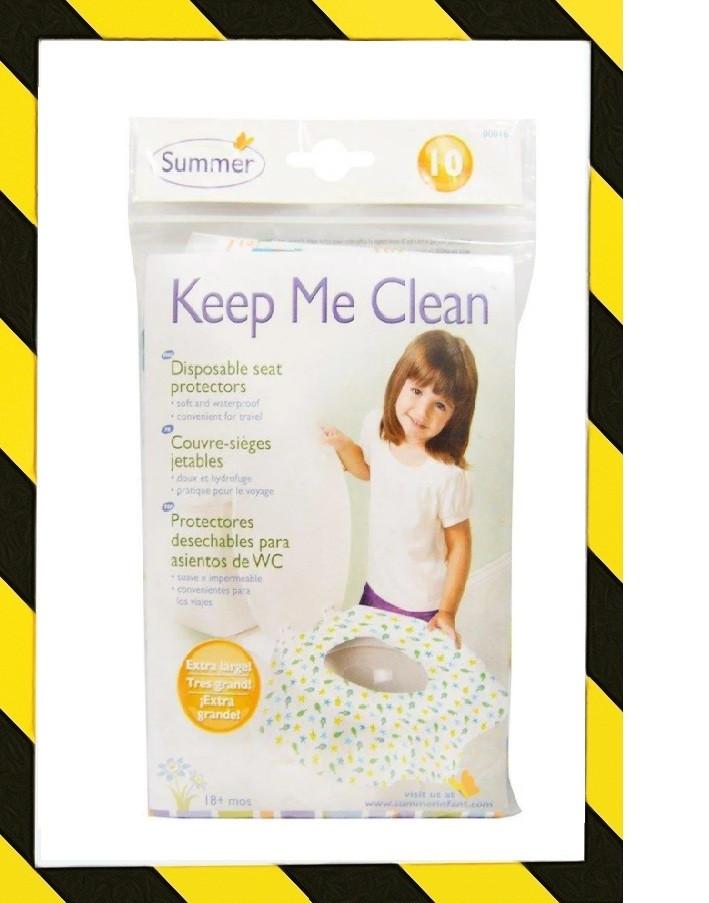 Summer Infant, Keep Me Clean, одноразовые салфетки для унитаза, 20 салфеток для поездок
