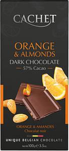 Шоколад Cachet Orange & Almonds Dark Chocolate