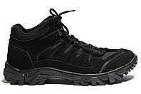 Ботинки Strongboots Циклон демисезонные кожа нубук Черные 5154-1-2 (36-46)