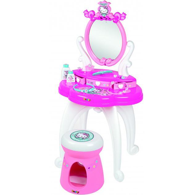 Дитячий столик з дзеркалом Smoby Toys Hello Kitty 2 в 1 з аксесуарами