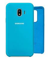 Чехол Silicone Case для Samsung Galaxy J4 (J400) голубой