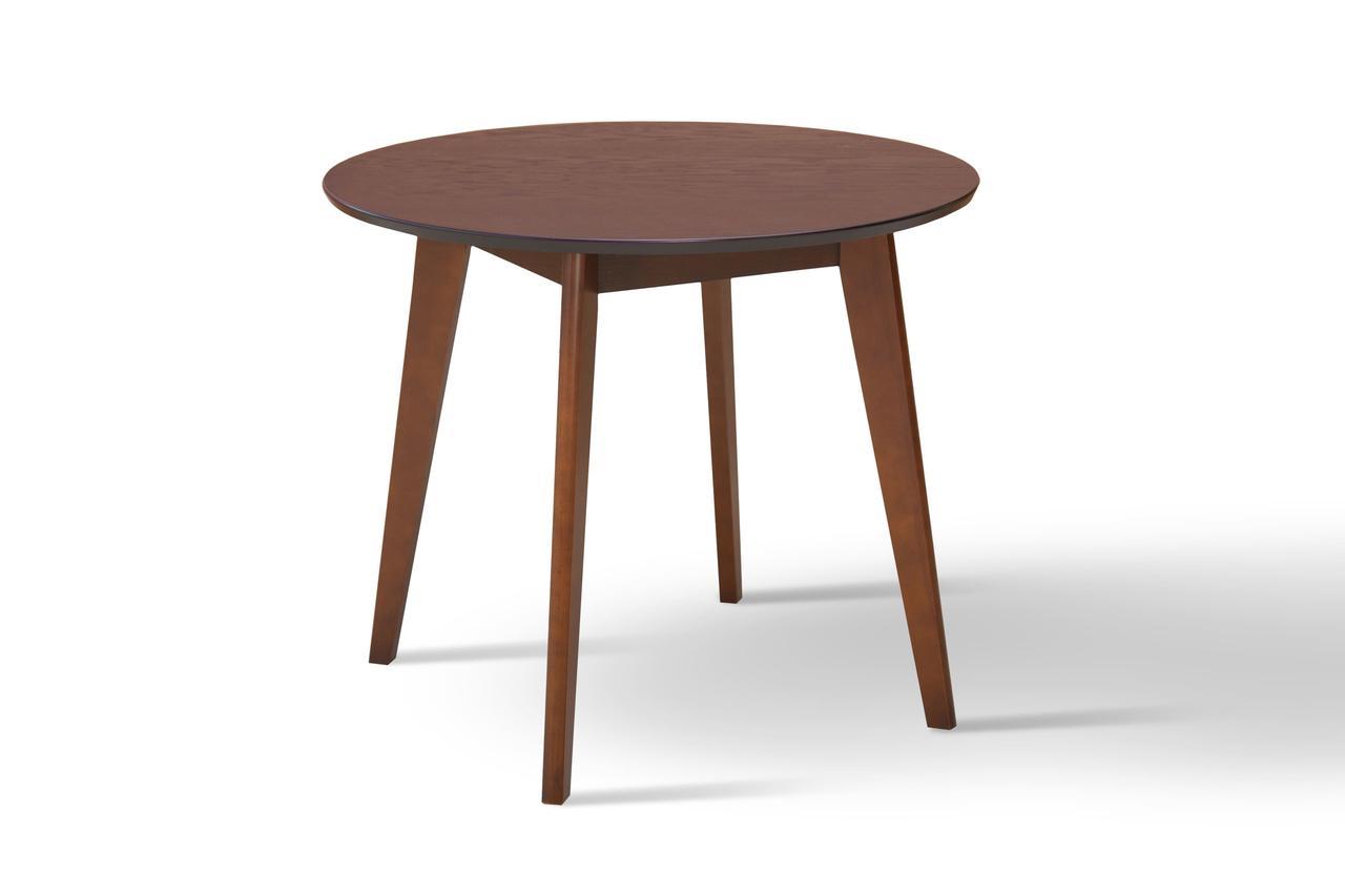 Стол обеденный круглый Модерн 90 см (венге/орех)