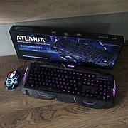 Игровой комплект клавиатура+мышь V-100 для ПК компьютера и ноутбука геймерский с подсветкой