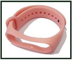 Ремінець для фітнес-браслета Xiaomi Mi Band 3, Mi Band 4, рожевий світлий