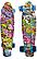 Скейт (пенни борд) Penny board со светящимися колесами разные цвета, фото 4