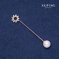 Брошка жіноча шпилька Xuping Сонце 85х14мм позолота 18к, фото 1