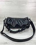 Молодежная женская сумка стильная «Lola» черная, женская модная сумка среднего размера кожзам, фото 3