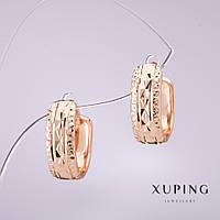 Серьги Xuping женские позолоченные