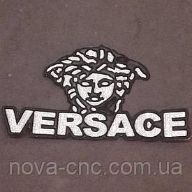 """Аппликация термо-клеевая """"VERSACE"""" 9 Х 4.5 cм серебро упаковка 10 шт"""