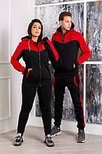 Стильный костюм мужской и женской красный