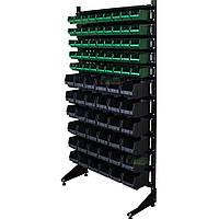 Стеллаж односторонний 1800 мм 81 ящика, органайзер для болтов, гаек, мелких креплений В/С