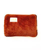 Грелка-муфта для рук коричневая