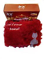 Грелка-муфта для рук бордовая с котом