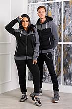 Стильный костюм мужской и женской серый