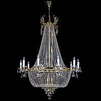 Хрустальная люстра для большого холла, зала, спальни на 23 лампочки