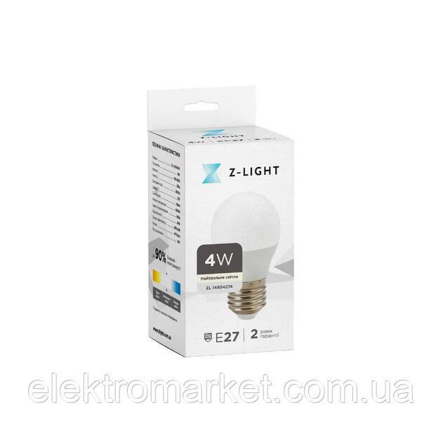 LED лампа Z-Light 4W,кулька, E27, 360lm (ZL 14504274)