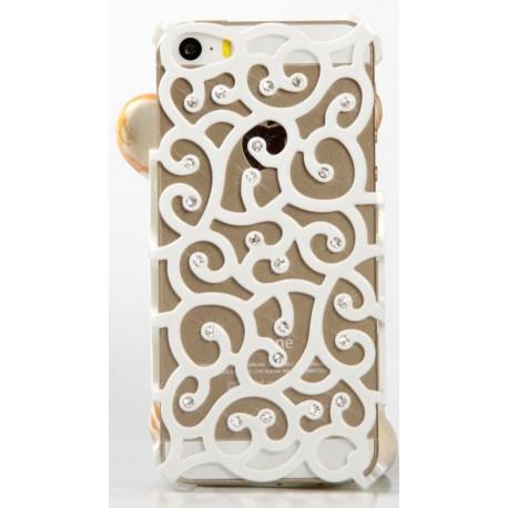 Чехол накладка Royal Flower на IPhone 5/5S Белый