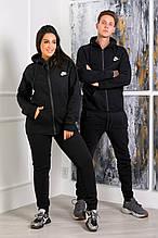 Стильный костюм мужской и женской черный