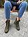 Стильні жіночі зимові шкіряні черевики Vikont 7-7-32 зеленого кольору, фото 3