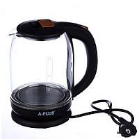 Электрочайник стекло A-PLUS 2.0 литра