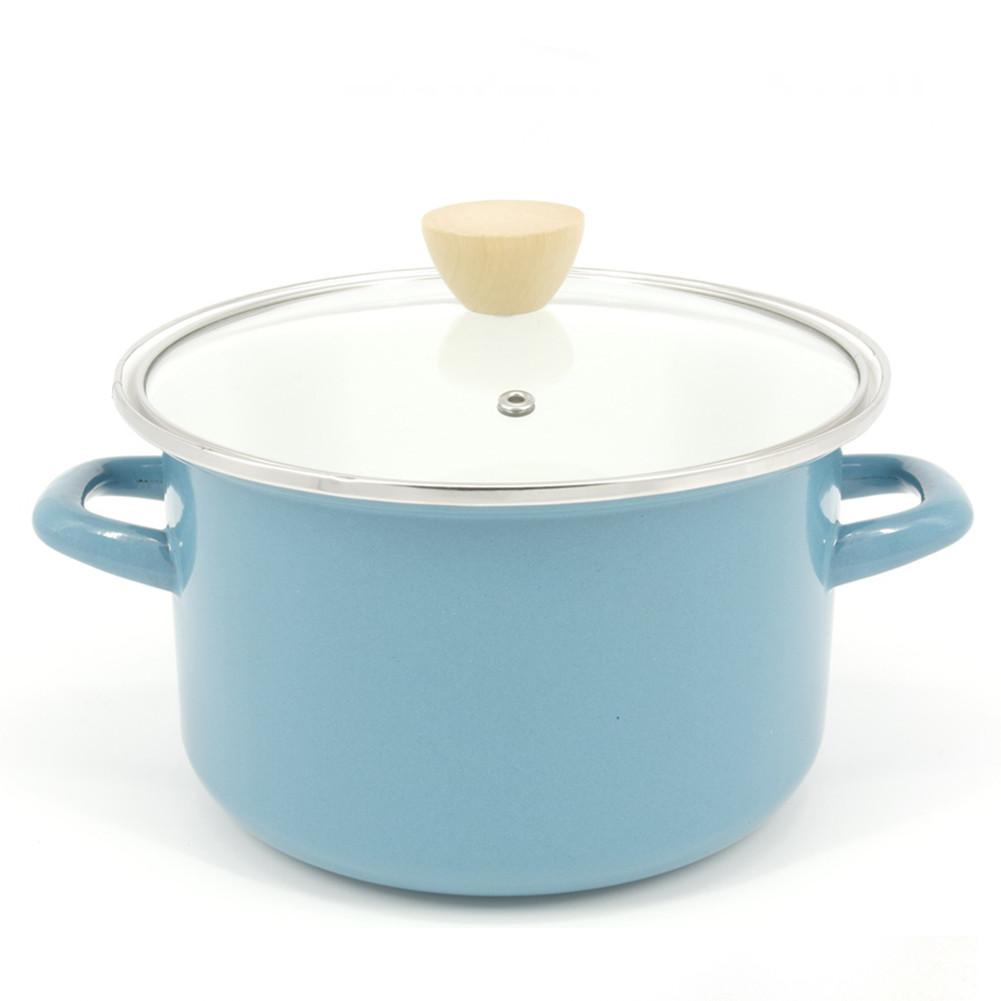 Кастрюля эмалированная A-PLUS 2.7 литра голубая
