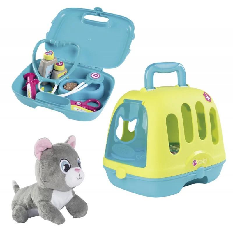 Игровой набор Smoby Toys «Уход за котенком» с кейсом и переноской