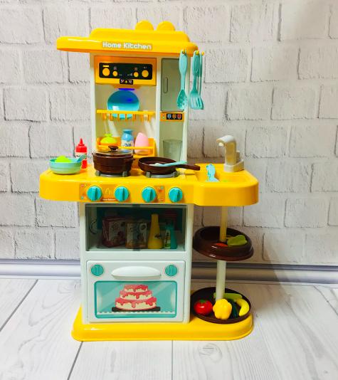 Кухня детская с циркуляцией воды Home Kitchen - 72 см. Желтая