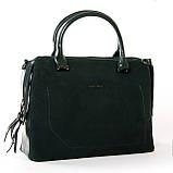 Женская сумка из натуральной кожи и замши разные цвета, фото 3