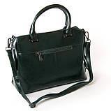 Женская сумка из натуральной кожи и замши разные цвета, фото 4