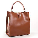 Квадратная женская сумка из натуральной кожи разные цвета на 3 отделения, фото 3