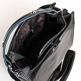 Квадратная женская сумка из натуральной кожи разные цвета на 3 отделения, фото 2