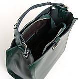 Квадратная женская сумка из натуральной кожи разные цвета на 3 отделения, фото 6