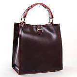 Квадратная женская сумка из натуральной кожи разные цвета на 3 отделения, фото 7