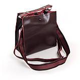 Квадратная женская сумка из натуральной кожи разные цвета на 3 отделения, фото 8