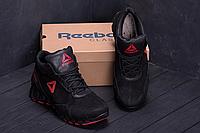 Ботинки мужские кожаные Reebok Crossfit чёрные реплика