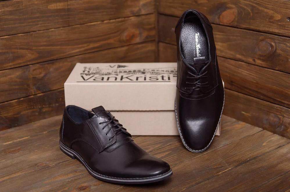 Туфли мужские классические кожаные VanKristi