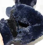 Ботинки женские зимние темно-синего цвета на меху, фото 8