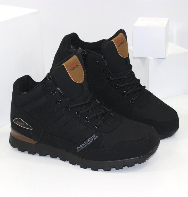 Зимние мужские ботинки черного цвета SAYOTA