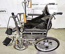 Дорожное складное колесное кресло ДККС-8. Складная инвалидная коляска ДККС-8. Кресло-коляска ДККС-8, фото 2